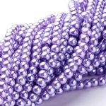 Glass Pearl Beads Lavender 4mm